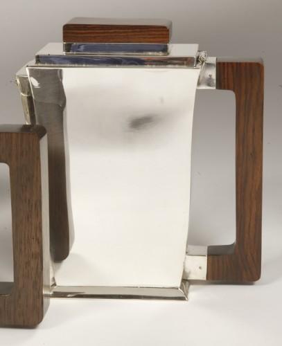 20th-century silver and tea service by silversmith BLOCH ESCHWEGE - Art Déco