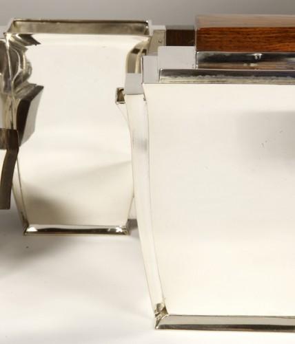 Art Déco - 20th-century silver and tea service by silversmith BLOCH ESCHWEGE