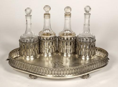 Antique Silver  - Silversmith ODIOT PARIS - CABARET LIQUEUR silver nineteenth