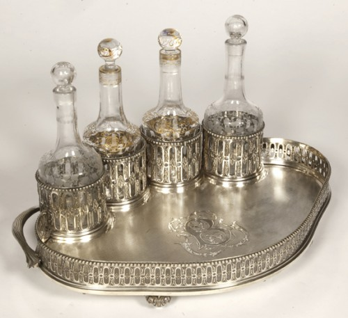 Silversmith ODIOT PARIS - CABARET LIQUEUR silver nineteenth -