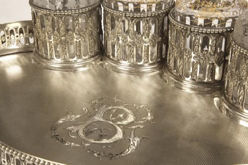 Antiquités - Silversmith ODIOT PARIS - CABARET LIQUEUR silver nineteenth