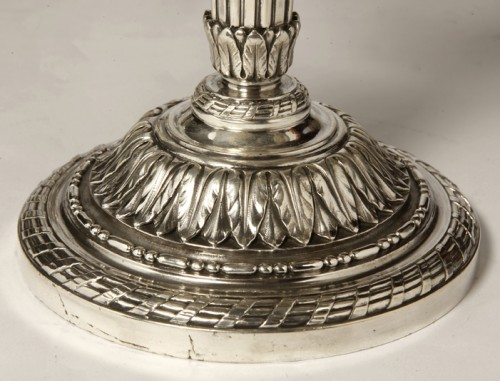 Napoléon III - Pair of silver candelabra nineteenth BOIN TABURET