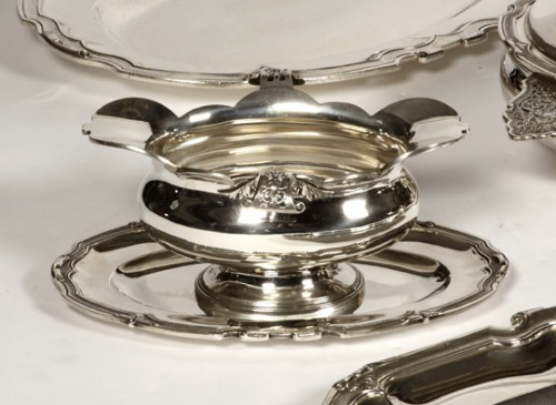 Set of dishes, vegetables and sauciers in silver by CARDEILHAC - Antique Silver Style Napoléon III