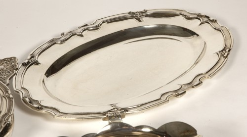 Set of dishes, vegetables and sauciers in silver by CARDEILHAC - Napoléon III