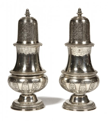 Pair of silver sprinklers sugar by CARDEILHAC early twentieth