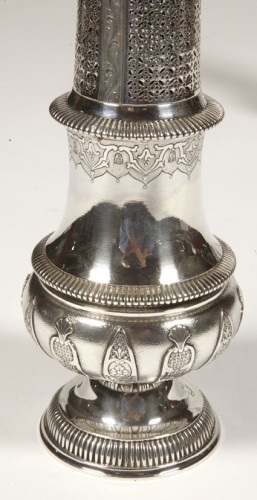Pair of silver sprinklers sugar by CARDEILHAC early twentieth - Antique Silver Style Art nouveau