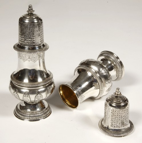 20th century - Pair of silver sprinklers sugar by CARDEILHAC early twentieth