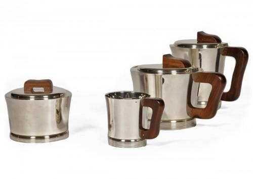 Set tea coffee in silver by JEAN E. PUIFORCAT