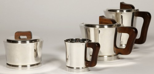 Antique Silver  - Set tea coffee in silver by JEAN E. PUIFORCAT