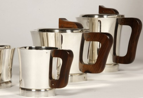 20th century - Set tea coffee in silver by JEAN E. PUIFORCAT