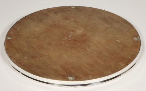 Antique Silver  - Silver tray with mirror bottom by CARDEILHAC