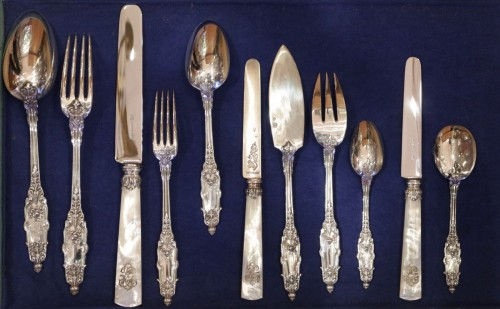 Cutlery set  in sterling silver 188 pieces by PUIFORCAT