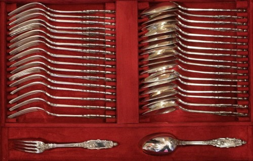 Cutlery set  in sterling silver 188 pieces by PUIFORCAT - Napoléon III