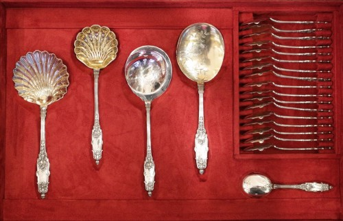 Napoléon III - Cutlery set  in sterling silver 188 pieces by PUIFORCAT