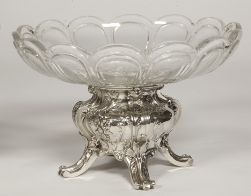 Antique Silver  - Pair of silver cups and BACCARAT crystal by GUSTAVE ODIOT