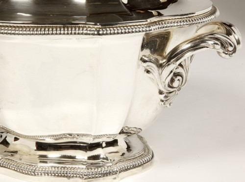 Soup tureen covered in silver by SOUCHE LAPPARRA -