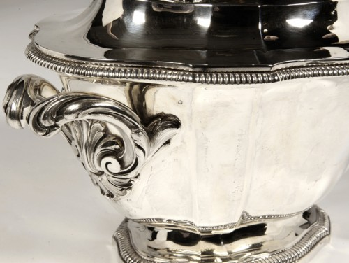 Art Déco - Soup tureen covered in silver by SOUCHE LAPPARRA
