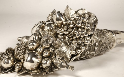 20th century - Cornucopia in silver XXe