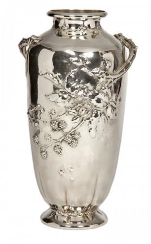 Art nouveau Silver vase by A.AUCOC