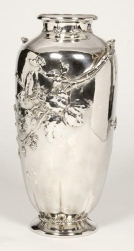 Art nouveau Silver vase by A.AUCOC - Antique Silver Style Art nouveau
