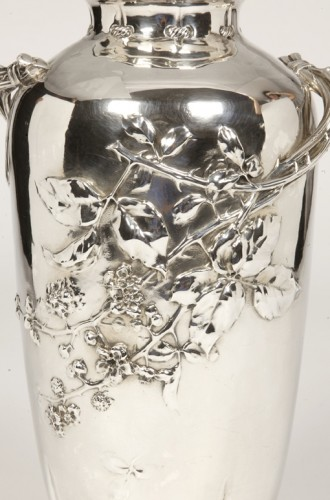 20th century - Art nouveau Silver vase by A.AUCOC
