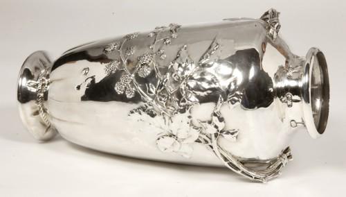 Art nouveau Silver vase by A.AUCOC - Art nouveau
