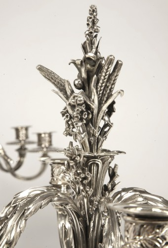 Antiquités - Pair of candelabras in silver by froment-meurice