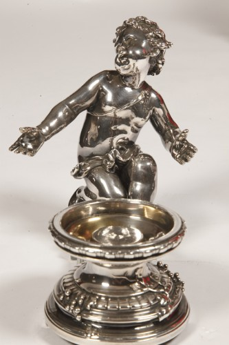 Napoléon III - Silvered bronze cup and cristal by C. CHRISTOFLE