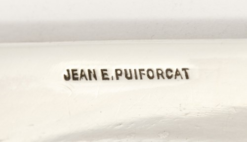 Antiquités - Box covered in silver by JEAN E.PUIFORCAT