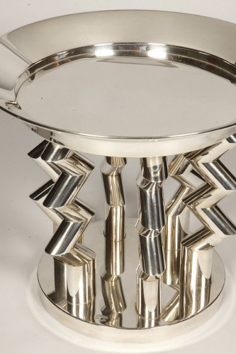 "Antique Silver  - Fruit basket ""Murmansk"" by SOTTSASS ETTORE"