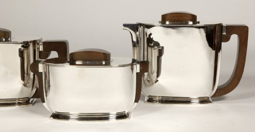 Antique Silver  - ART DECO silver tea / coffee service by Christofle and Jean Tetard