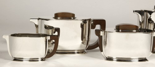 ART DECO silver tea / coffee service by Christofle and Jean Tetard -