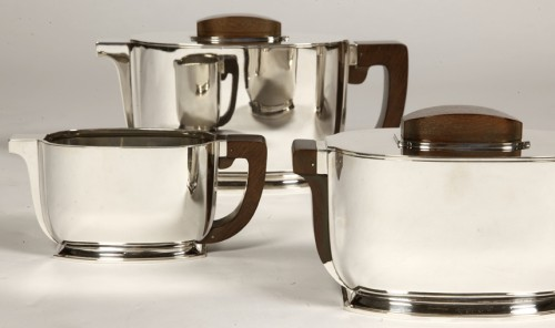 ART DECO silver tea / coffee service by Christofle and Jean Tetard - Art Déco