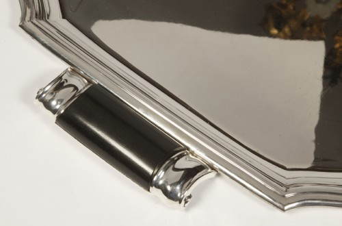 Art deco silver tray by LAPPARRA -