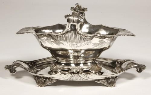 Saucière rocaille en argent par LAPPARR - Antique Silver Style Napoléon III