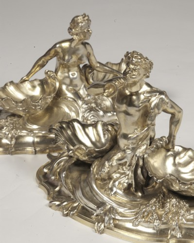 A pair of larg SILVER-GILT  double SALT-CELLARS  by VICTOR BOUDET, PARIS -