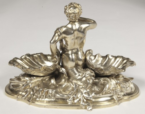A pair of larg SILVER-GILT  double SALT-CELLARS  by VICTOR BOUDET, PARIS - Napoléon III