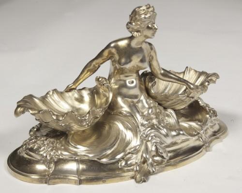 Antiquités - A pair of larg SILVER-GILT  double SALT-CELLARS  by VICTOR BOUDET, PARIS