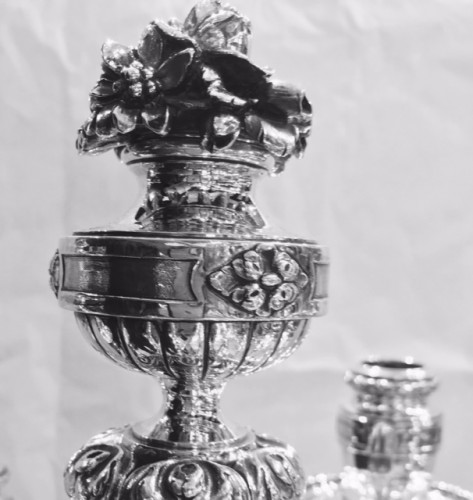 Antique Silver  - Pair of Solid Silver Candelabra 19th - Emile Puiforcat