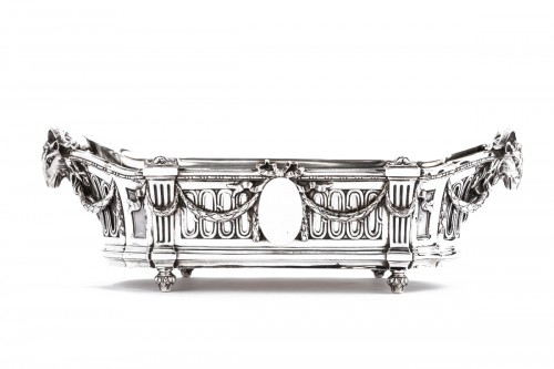 Important Flower Planter by Silversmith EMILE PUIFORCAT 19th