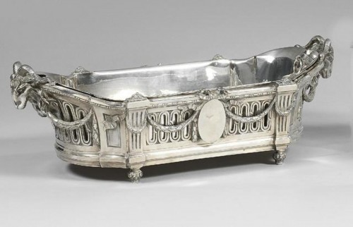 Important Flower Planter by Silversmith EMILE PUIFORCAT 19th - Antique Silver Style Napoléon III