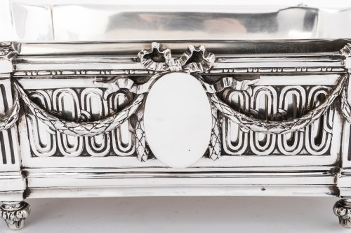Antique Silver  - Important Flower Planter by Silversmith EMILE PUIFORCAT 19th