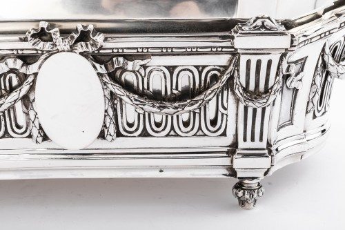 Important Flower Planter by Silversmith EMILE PUIFORCAT 19th -