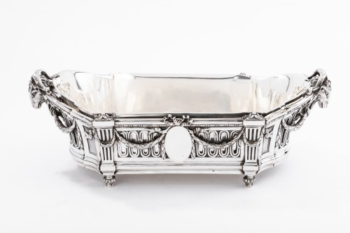 19th century - Important Flower Planter by Silversmith EMILE PUIFORCAT 19th