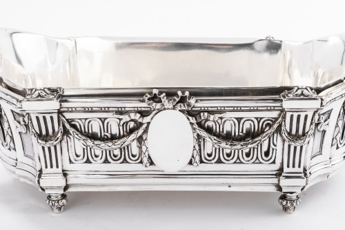 Important Flower Planter by Silversmith EMILE PUIFORCAT 19th - Napoléon III