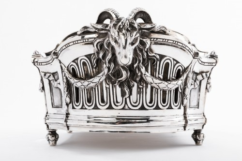 Antiquités - Important Flower Planter by Silversmith EMILE PUIFORCAT 19th