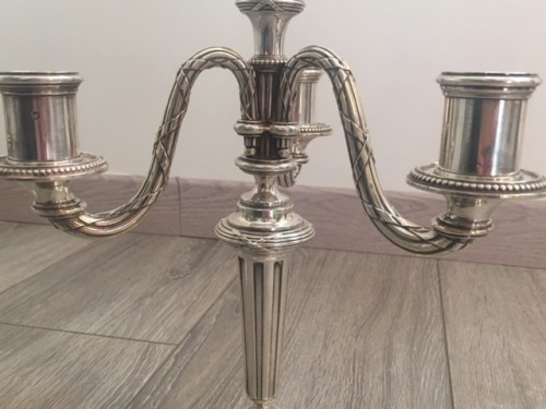 A Pair of candelabra in sterling silver by KELLER silversmith's - Napoléon III