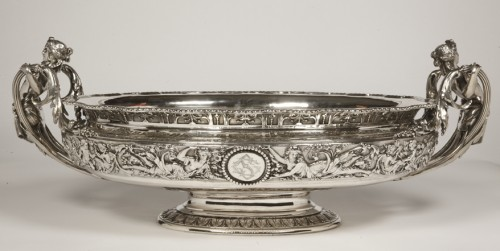 Silver jardiniere  by odiot, paris - Antique Silver Style Napoléon III