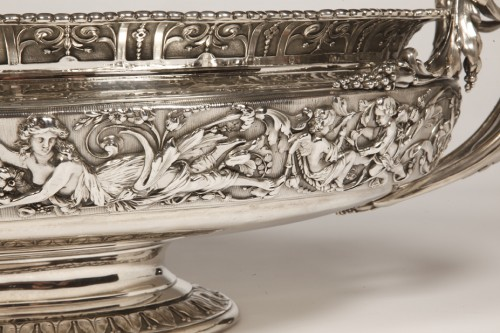 19th century - Silver jardiniere  by odiot, paris
