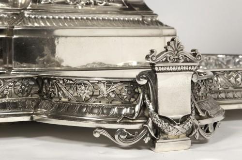 19th century - Silver table centre known as ''les enfants au chevreau''  by fanniere